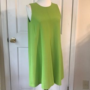 Vintage 80s lime green swing dress size 4 petite